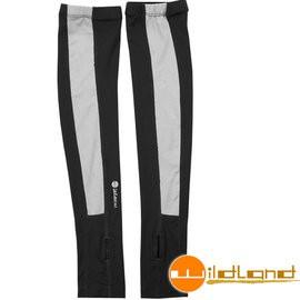 【Wildland 荒野】W1801-54黑色Tactel開洞抗UV透氣袖套 抗UV遮陽手套/快乾機車手套/防曬袖套