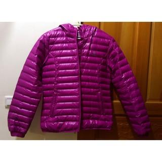 極新L號 NOYA超輕量修身頂級紫紅色羽絨外套