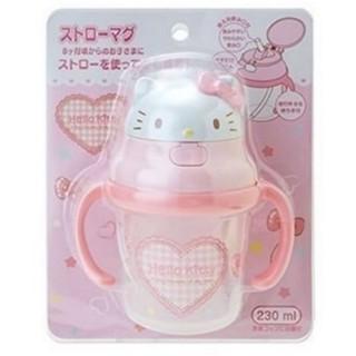 日貨 Hello Kitty 雙耳彈跳吸管學習杯