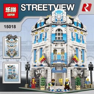 (第三方積木) 樂拼15018 創意城市街景系列 MOC 陽光大酒店