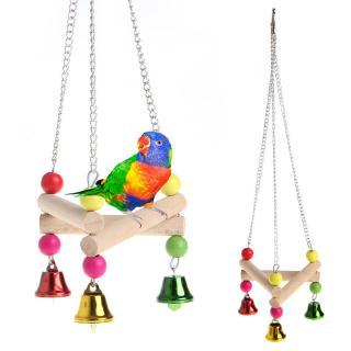 寵物鳥鸚鵡三角鞦韆 鸚鵡搖擺木吊掛床玩具 小型鸚鵡用品 啃咬玩具三角鞦韆站槓 站架鳥籠配件 玄風虎皮牡丹 鸚鵡玩具鳥鞦韆
