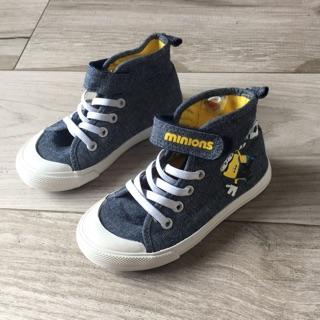 ( 二手 )H&M 小小兵牛仔布高筒童鞋