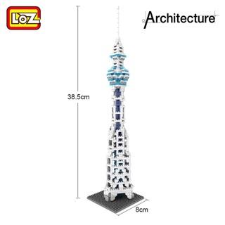 Loz 微型積木 樂高 世界建築系列-東京晴空塔、巴黎鐵塔、大明宮、大笨鐘、天壇