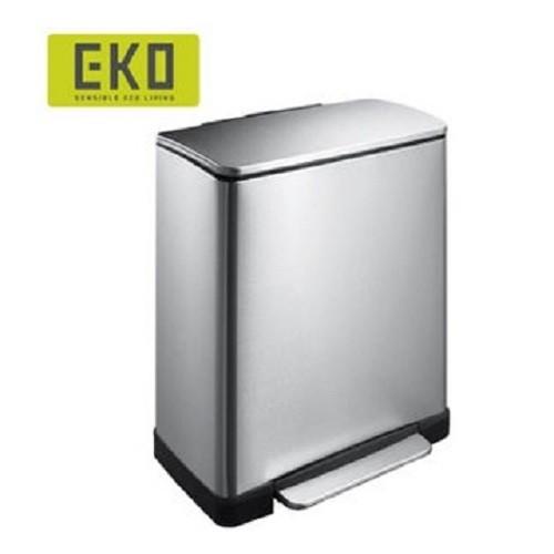 EKO 逸酷緩降靜音不鏽鋼垃圾桶-大容量20L 廚房 客廳