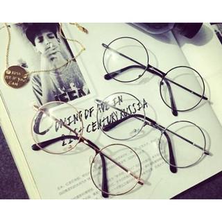 FINDSENSE品牌 設計 時尚 潮 男女情侶款 複古圓型 金屬鏡框 平光眼鏡 太子眼鏡