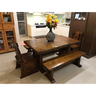 實木 美式鄉村風 餐桌椅