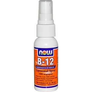Now Foods, B-12 脂質體噴霧,每支1000 mcg,2 fl oz(60 ml)
