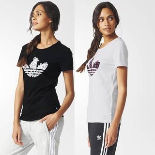 愛迪達 adidas 三葉草 休閒運動短袖T恤 短T 女T 女生短袖 圓領上衣 短版上衣 圓領T恤 AJ8914