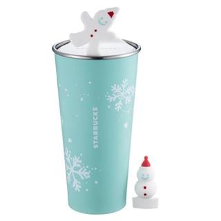 Starbucks 星巴克 雪花薑餅人Togo不鏽鋼杯 2017耶誕節