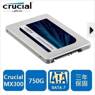 美光 Micron Crucial MX300 750GB SSD