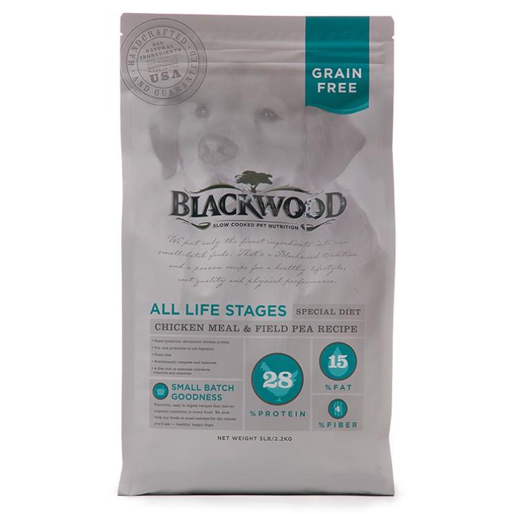 柏萊富 BLACKWOOD 無穀全齡低敏純淨配方(雞肉+豌豆) 狗糧/狗飼料 2.2/6.8/13.6公斤