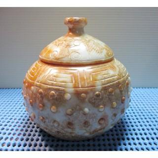 玉香爐[新疆青白玉香爐] 丁乳紋雲刻聚寶爐
