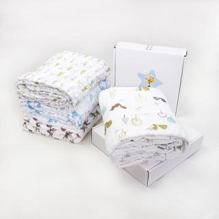 現貨Muslin tree 六層紗被/澎澎紗/包巾/浴巾/蓋毯/彌月禮盒 天然無螢光劑 禮盒裝