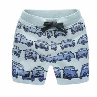 (預購)---童裝---   春裝  叭叭叭漸層藍車車短棉褲