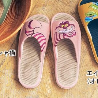 日本 迪士尼 妙妙貓 柴郡貓 透氣 室內拖鞋 室內拖 拖鞋 三眼怪 101忠狗 小熊維尼 奇奇蒂蒂 小熊維尼 唐老鴨