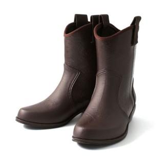 Nishibe 日本進口 雨靴-赤褐色