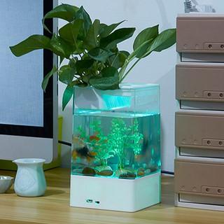Lovus USB桌面迷你小魚缸LED燈水族箱