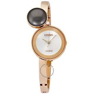 【換日線】CITIZEN EW5493-85X 剪影石英玫瑰金女士手錶