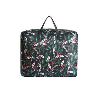 Color me ~P514 ~花草系列大容量棉被收納袋中旅行行李袋防塵防髒滌綸防水防潮被