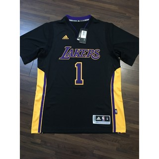 NBA球衣 Dangelo Russell 湖人好萊塢短袖 Adidas Swingman 熱轉印 S/M號 全新含吊牌