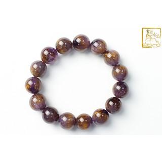 (衝評價,促銷中)天然紫鈦晶手珠手鍊 重:61g 大小:13.9mm 【吉祥水晶專賣】