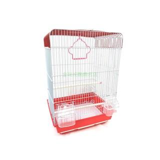 金瑞成鳥園->小紅造型鳥籠/防撒飼料杯設計、防開門、輕巧/適合小、中小型鳥居住