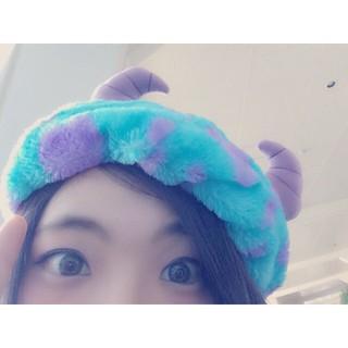 日本東京迪士尼樂園 皮克斯怪獸電力公司 怪獸大學 毛怪毛絨貝蕾帽 帽子 ig小物 自拍 上傳 打卡必備