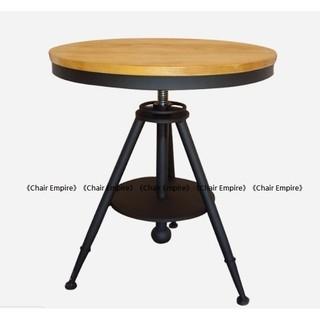 《Chair Empire》Loft風 法國工業風 水管桌 茶几桌 法式鐵藝咖啡桌 做舊圓桌 升降吧台桌