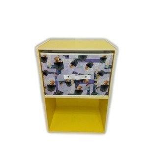 快樂袋熊--(淋膜布)橫式抽屜箱