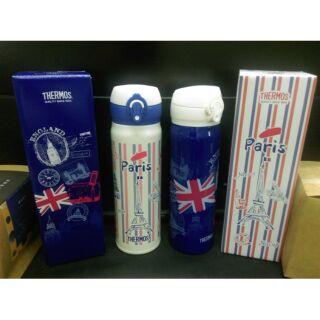 ( 現貨 )地區限定販售_THERMOS 膳魔師超輕量保溫瓶巴黎/倫敦0.5L(JNL-500)二款