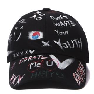 《韓國代購》VIBRATE HAPPY SKETCH BALL CAP