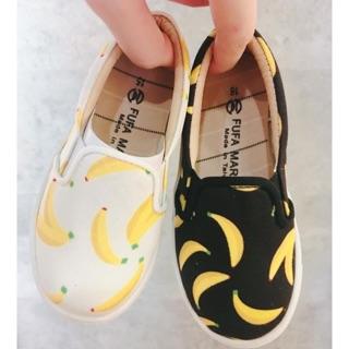 女童香蕉插畫懶人鞋