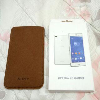 全新正版 Sony XPERIA Z3時尚手機保護套 咖啡色