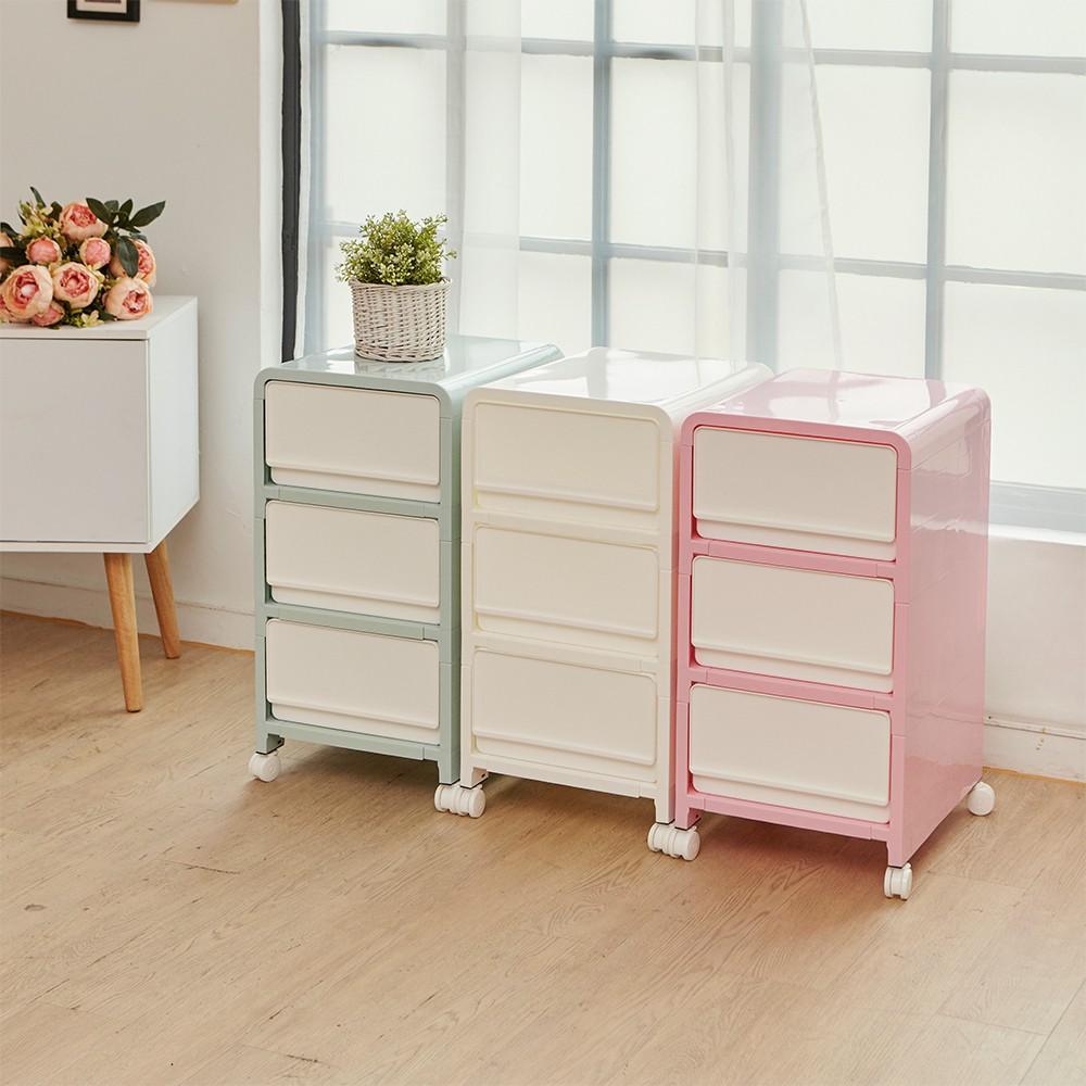 【ikloo】韓系馬卡龍三層整理箱/收納箱