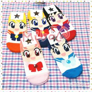 韓國正品 美少女戰士 金星 土星 水星 仙子 短襪 直版襪 棉襪