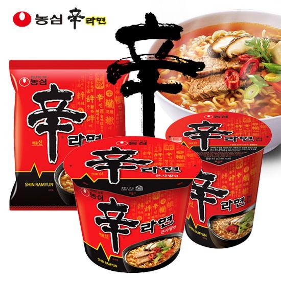 韓國 農心 辛拉麵 單包入 袋裝五包 杯麵 泡麵 消夜 韓國泡麵