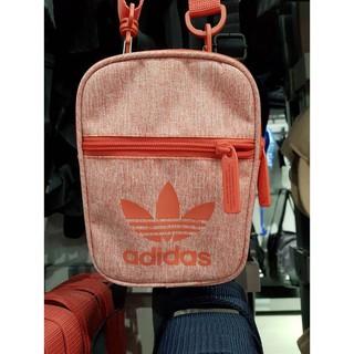 adidas 側背小包 護照包 手機包 方便旅行放證件 CE3801(亮橘) 尺寸:12×17×2(cm)