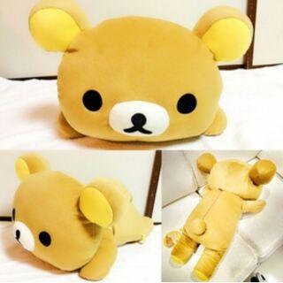 ★娃娃兵★日貨Rilakkuma拉拉熊懶懶熊牛奶熊牛奶妹懶妹趴姿造型超大玩偶娃娃