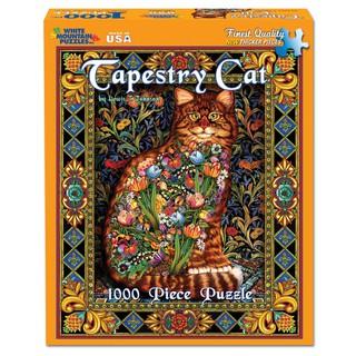 【丹】Tapestry Cat - 1000 Piece 貓咪 拼圖 1000片 進口拼圖 美國拼圖
