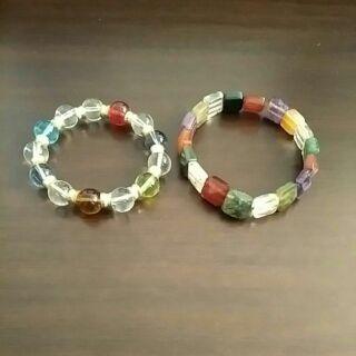 彩色水晶手鍊*2