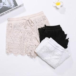 [EZ購] 夏蕾絲短褲外穿安全褲防走光打底三分褲~預購