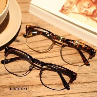 復古女韓版潮方型金屬眼鏡架防輻射防藍光近視眼鏡框男平光鏡特價