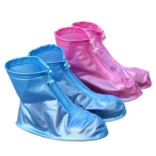 白色、紅色時尚防雨鞋套 男女加厚底PVC防水鞋套 兒童耐磨防滑雨靴套