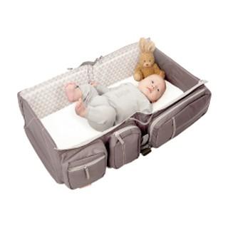 過年外出必備 比利時Deltababy Carry Cot & Travel Bag ▼輕量升級版▼寶寶行動眠床-沙褐棕