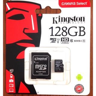 現貨新款 金士頓128G記憶卡 台灣製造  128G記憶卡 c10 microSD kingston