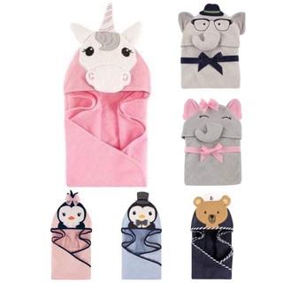 美國Luvable Friends可愛動物造型寶寶連帽浴巾 包被(六款)