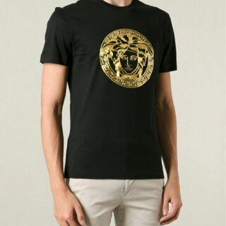 Versace 黑標 女王頭logo短袖