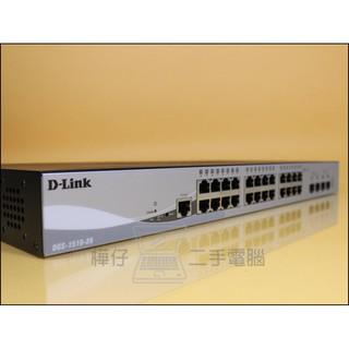 【樺仔二手電腦】D-Link DGS-1510-28 Layer 2+ Giga可堆疊網管交換器 原廠保固至2020年