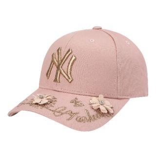 預購 韓國空運 MLB立體花粉色棒球帽