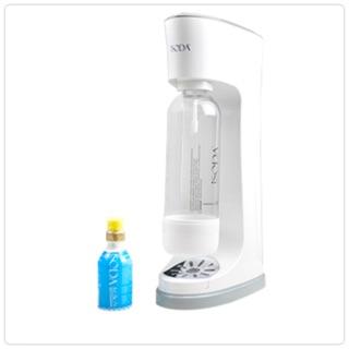 美國 isoda Lotus + 系列氣泡水機 80g 氣瓶組 (超值嚐鮮價)白灰色